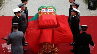 Portugal holds state funeral for former president Mario Soares
