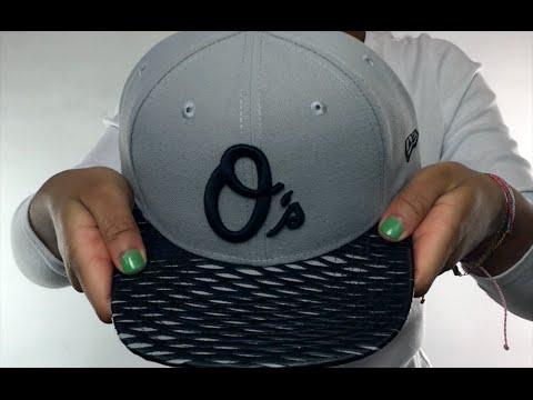81ac63527ff Orioles  LEATHER-RIP SNAPBACK  Grey-Black Hat by New Era - YouTube