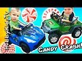 Giant Candy CRASH SMASH! Peppermint Crushed by Hero Cars HobbyKidsTV