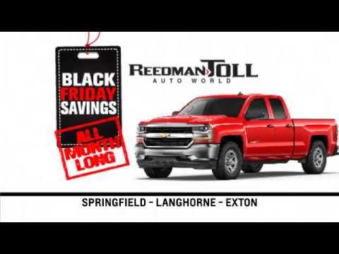 Reedman Toll Auto Group Chevrolet November 2017 Black Friday Specials