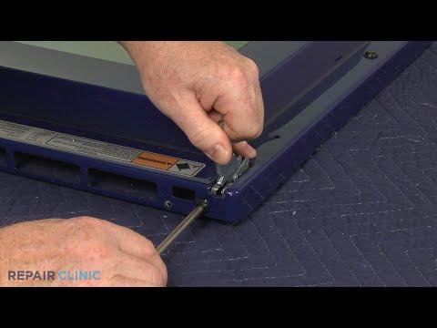 Left Lower Oven Door Hinge  - Kitchenaid Double Oven Gas Range (Model #KFGD500ESS04)