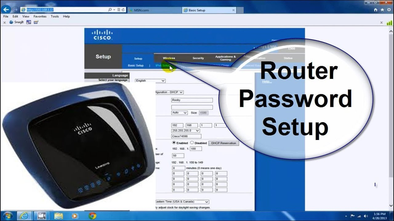 how to setup a linksys wireless router with a wifi password it s