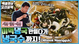 미역냉국 만들다가 국수가 땡겨 만든 냉국수! Ice-Cold Naengguk, Perfect for the Summer! It Makes You Crave Noodles!