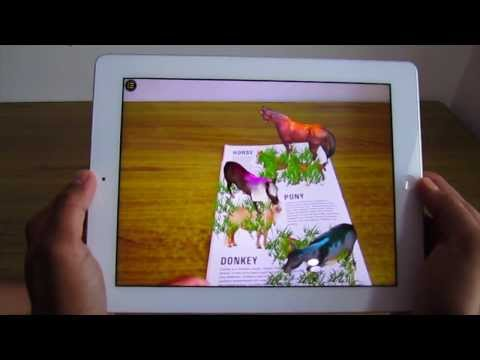 Augmented Reality for Book Publishers : Kids animal book