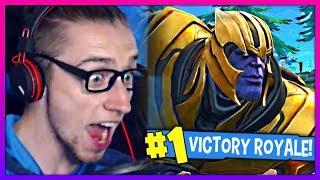 WINNING AGAINST THANOS! (Fortnite Battle Royale)