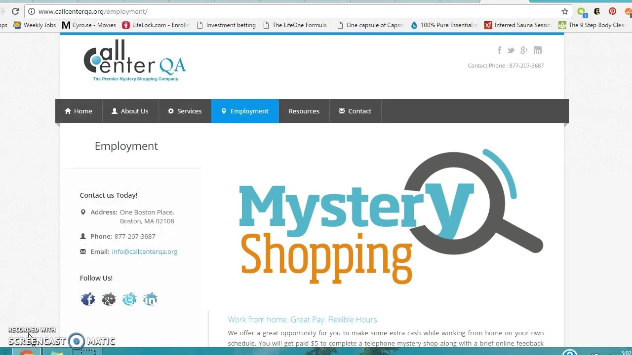 Call Center QA $15 an hour myster shopping from home - YouTube
