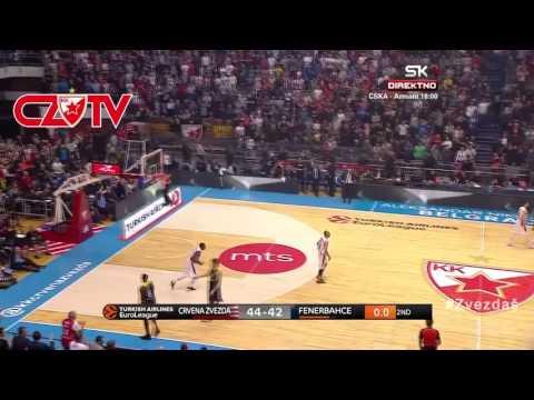 First EuroLeague points -  Thompson | BC Crvena zvezda mts - Fenerbahce