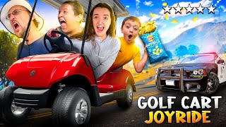 GTA on a GOLF CART!  Risking Lives for Salt &amp Vinegar Chips! (FV Family Isle of Palms Vlog)