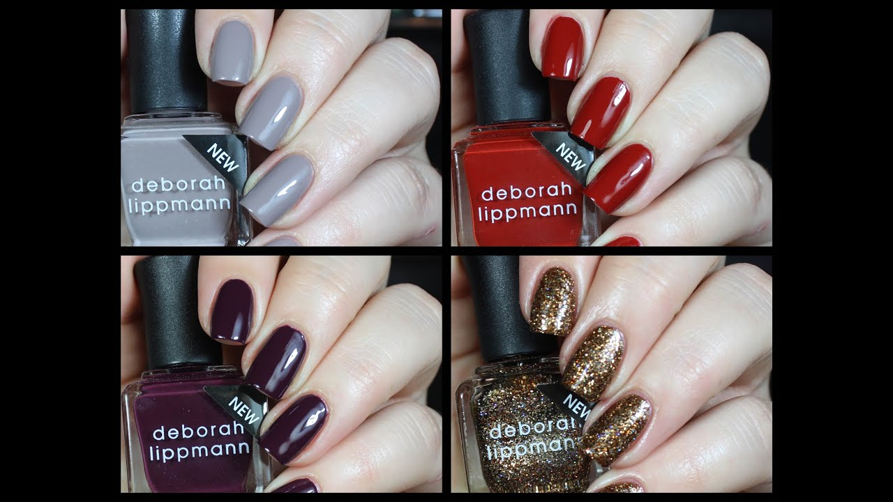 Deborah Lippmann Roar Fall Collection Live Swatch + Review!! - YouTube