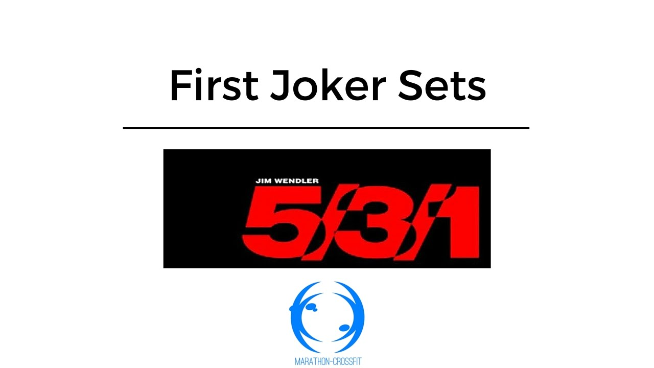 Jim Wendler 5/3/1 First Joker Sets - YouTube