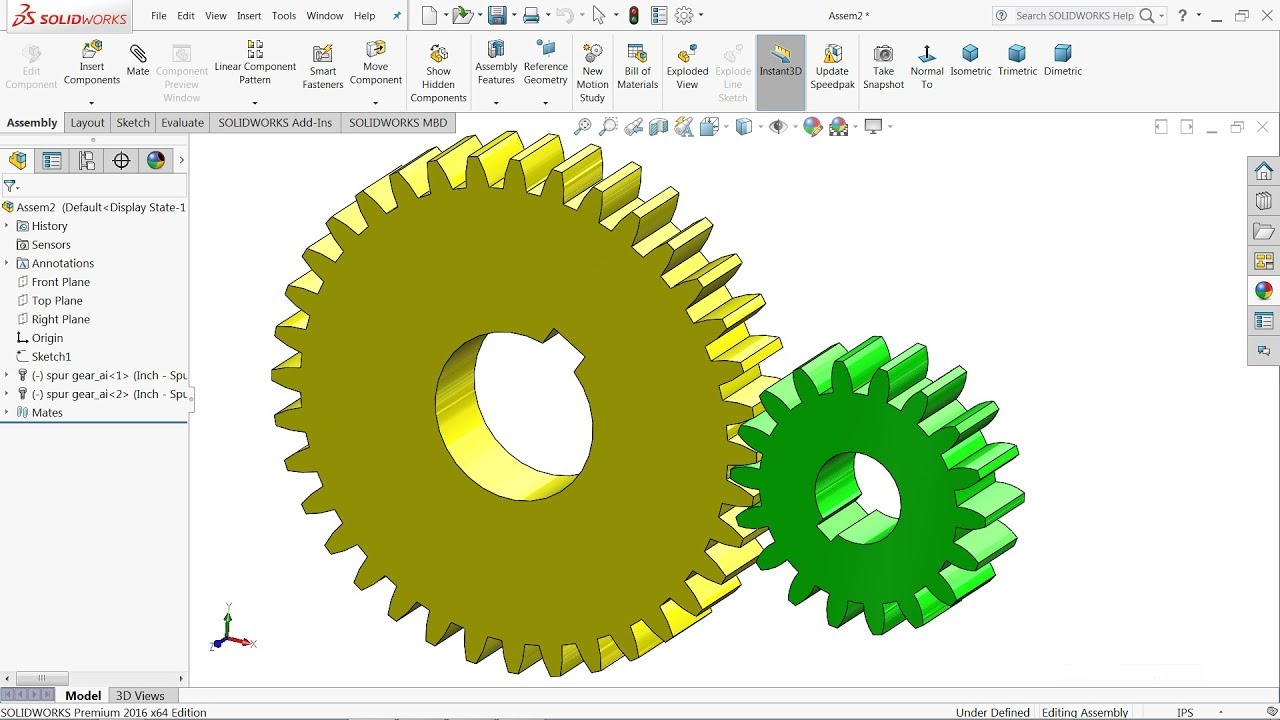 Solidworks tutorial | Design of Spur gear with Solidworks toolbox