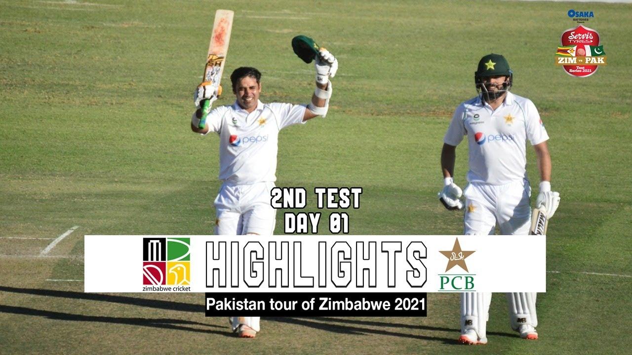 Zimbabwe vs Pakistan Highlights | 2nd Test | Day 1 | Pakistan tour of Zimbabwe 2021