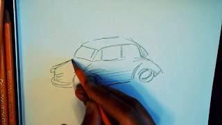 Быстрый и простой способ нарисовать красивый набросок машины карандашом детям и взрослым с нуля(Быстрый, мгновенный, молниеносный, моментальный, несложный, нетрудный, нехитрый способ схематически нарисо..., 2016-07-20T11:49:05.000Z)