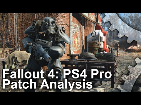 [4K] Fallout 4: PS4 Pro Patch Analysis + Boost Mode Frame-Rate Test!
