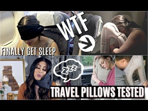 TRAVEL HACKS TO SLEEP ON A PLANE EVERYONE MUST KNOW: TESTING CRAZY TRAVEL PILLOWS