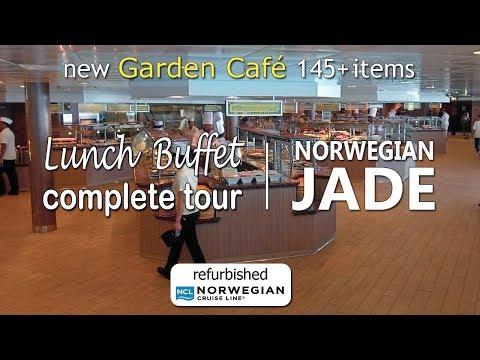 refurb Norwegian Jade | Lunch Buffet in Garden Café Complete tour. Sony camera