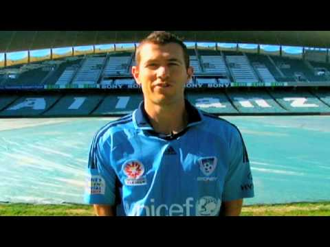 Sydney FC star Brett Emerton supports UNICEF's Football Aid