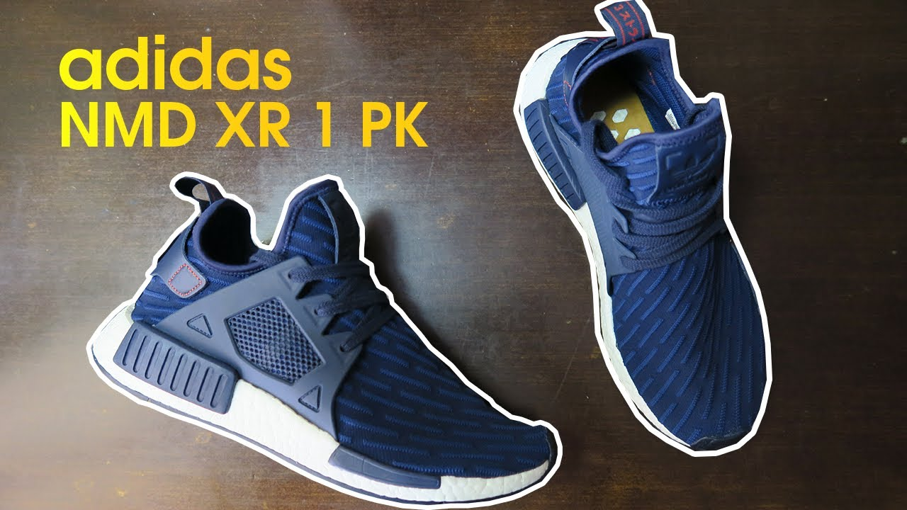 best cheap 77d6d 2ad93 Adidas NMD XR1 UNBOXING | NAVY BLUE