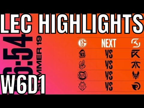 LEC Highlights ALL GAMES Week 6 Day 1 Summer 2019 League of Legends EULCS