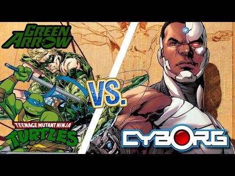 THE BEST CYBORG! HeroKillerStain (CYBORG) vs. SoundsLikePAUSE (GREEN ARROW/LEONARDO) |