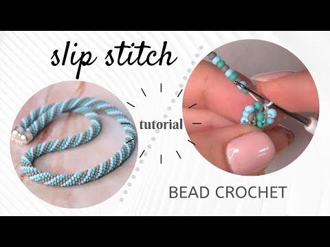Bead crochet tutorial | Slip stitch bead crochet tutorial | How to bead crochet