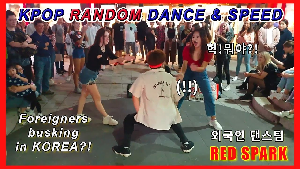 [Kpop in Public] Red Spark Kpop Random Dance & Speed Busking in Korea Hongdae street