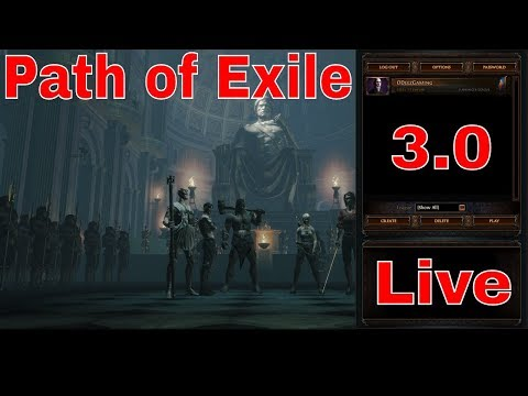 Path of Exile 3.0 -  - Summon Raging Spirits Necromancer Witch - Be a Maverick - Road to 200 Subs!