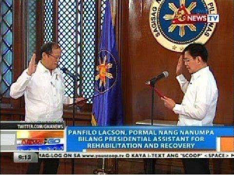 Panfilo Lacson, pormal nang nanumpa bilang presidential assistant for rehabilitation and recovery