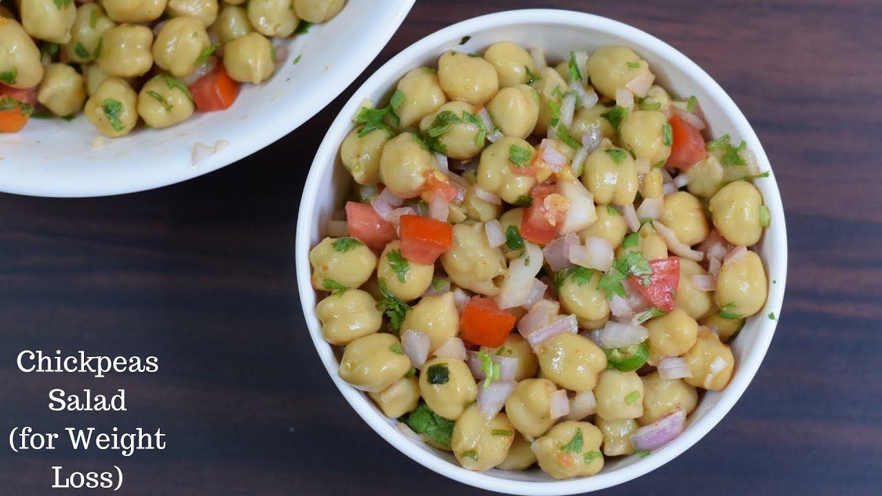 Chickpea Salad For Weight Loss Healthy Salad Recipe Vegan Salad Recipe Youtube