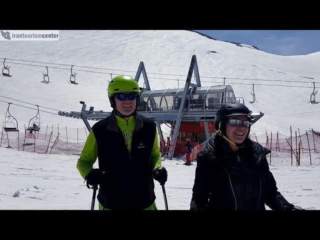 Ski slop in Iran Tochal ski resort Ahmad Janati guide احمد جنتی راهنما www.irantourismcenter.com