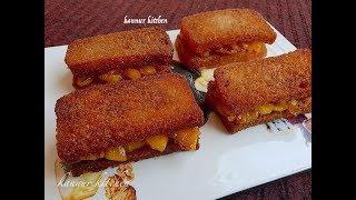 ബ്രഡും പഴവും കൊണ്ടൊരു സാൻവിച്ച് || Bread Banana Sandwich || Kids Special