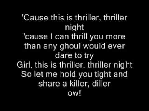 Michael Jackson-Thriller Lyrics