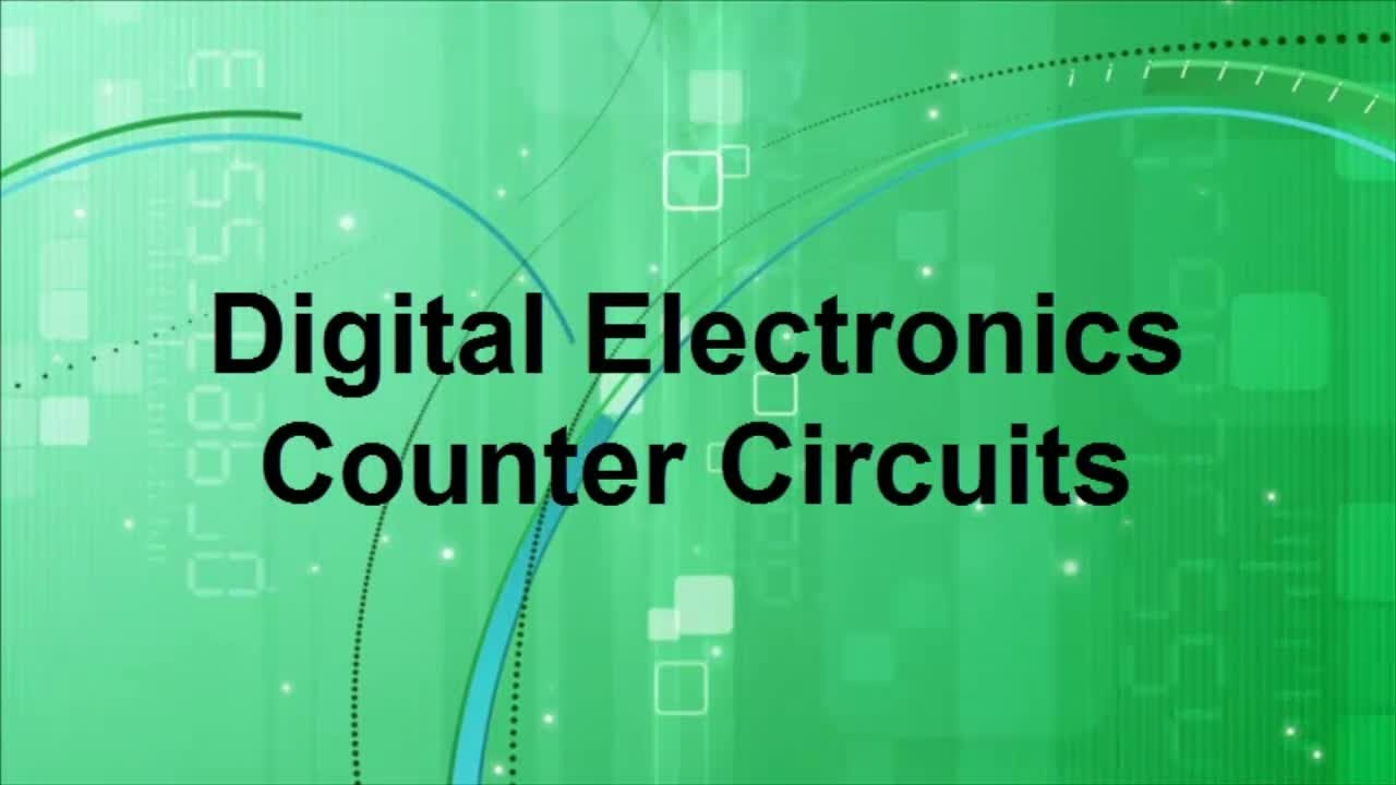 digital electronics counter circuits youtubeOf Digital Circuit And Number Graphics On The Subject Of Electronics #15