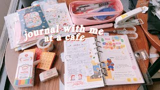 journal with me at a cafe ☕️#2