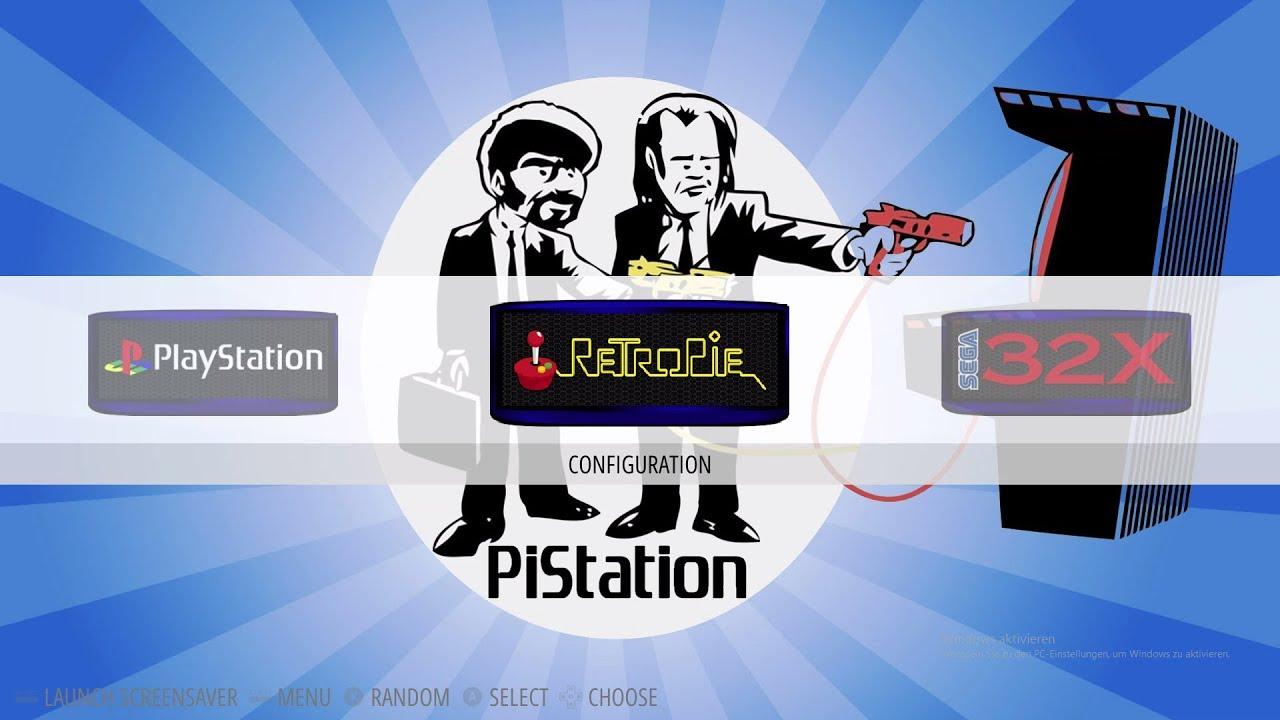 PiStation deluxe 128GB Retropie Custom Setup ES Menu 17xCore 10k+ ROMS