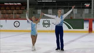 Anastasiia Mukhortova Dmitry Evgeniev Анастасия Мухортова Дмитрий Евгеньев FS Volvo Open Cup 2019
