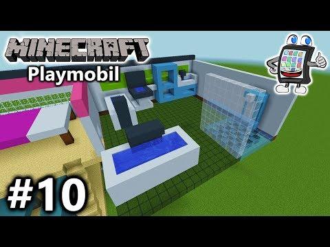 MINECRAFT Playmobil Luxusvilla bauen #10 - DAS BADEZIMMER DER TRÄUME ...