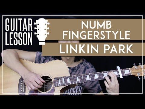 Numb Fingerstyle Guitar Tutorial - Linkin Park Picking Lesson 🎸 Easy Fingerstyle Arrangement 