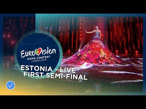 Elina Nechayeva - La Forza - Estonia - LIVE - First Semi-Final - Eurovision 2018