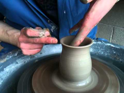 Lesson three - How to pull up the wall of a pot on a pottery wheel