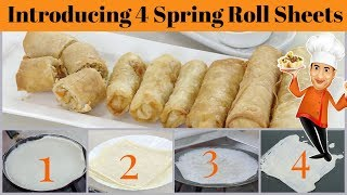 4 Spring Roll Sheets recipes - Homemade Spring Roll Wrappers, Veg or NonVeg Recipe Indo Chinese