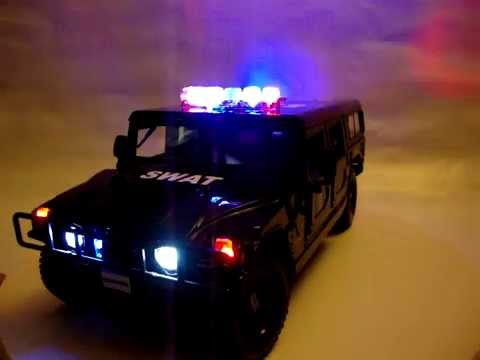 Police Car For Sale >> SWAT HUMMER POLICE CAR WITH WORKING LIGHTS - YouTube