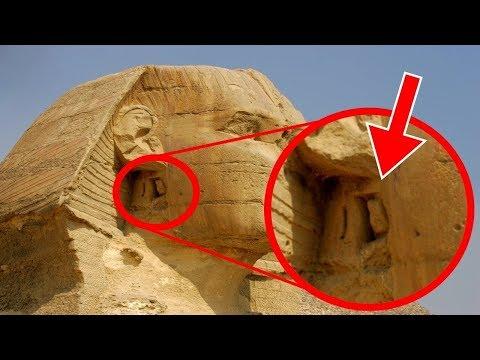 """سر  موجود """" خلف أذن تمثال أبو الهول """" بمصر"""