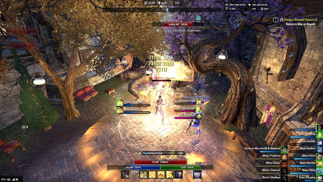 ESO Magicka Templar DPS Test (Morrowind)