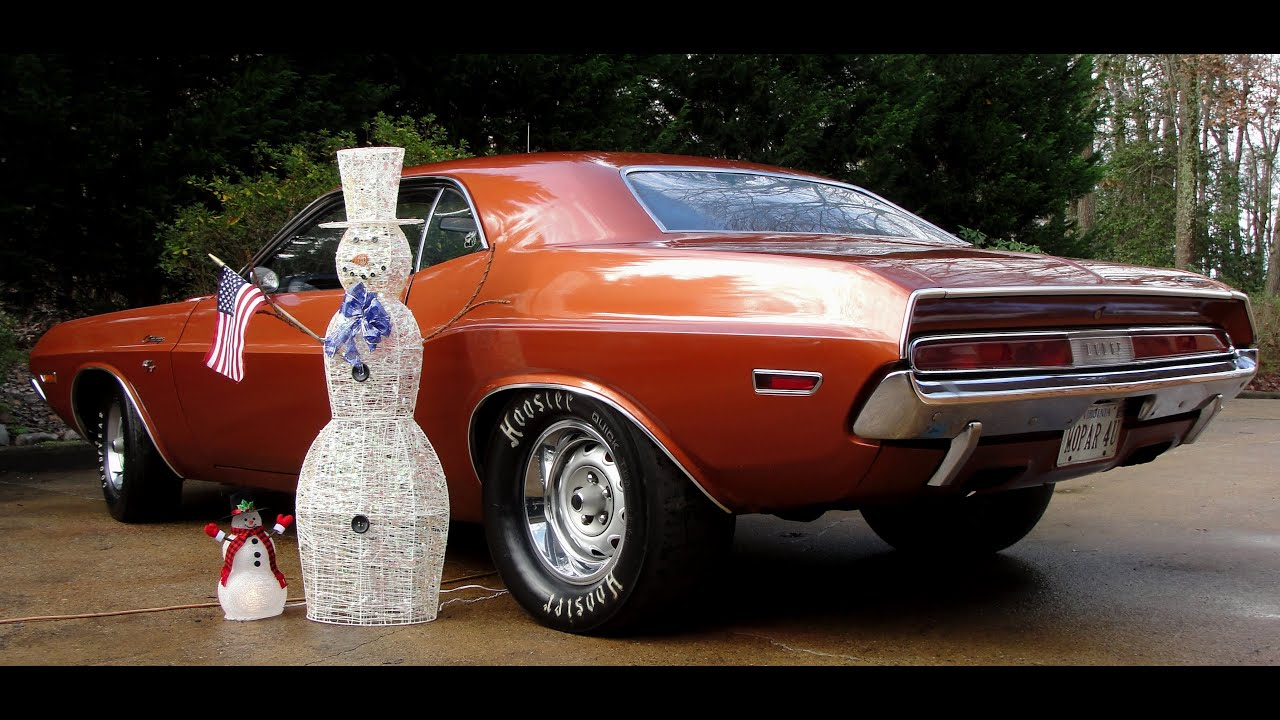 Barn Find 70 Challenger Rt Update With Snowmen Merry Christmas By