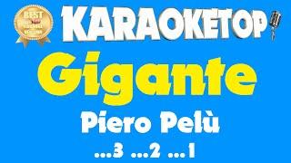 Gigante - Piero Pelù (Karaoke professionale - Base musicale con testo - Audio Alta Qualità)