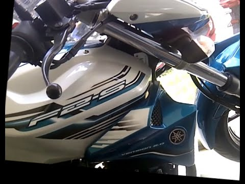 Yamaha fz s version 2 0 shark white 2015 blue core
