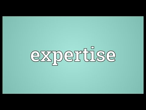 Expertise Meaning