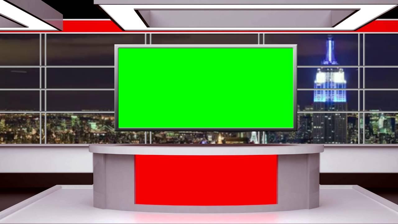 FREE GREEN SCREEN  Awesome tv news virtual set  YouTube