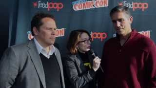 Jim Caviezel does (Christopher Walken) Impression; Person of Interest Interviews